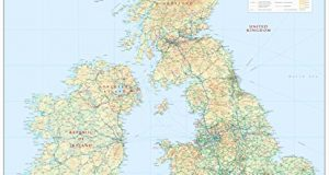 British Isles Physical - Large 1:1m - Wall Map