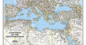 Mediterranean Region Classic, Tubed : Wall Maps - Countries & Regions (National Geographic Reference Map)