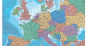 Philip's Reference Map: Europe: Political (Wall Map Folded)