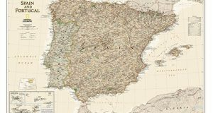 Spain & Portugal Executive, laminated Wall Maps Countries & Regions by National Geographic Maps published by NATIONAL GEOGRAPHIC MAPS DIVISION (2012)