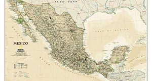 Mexico Executive Wall Maps Countries & Regions (National Geographic Reference Map)