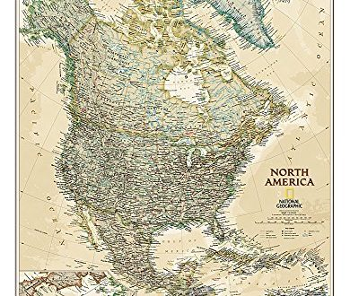 North America Executive, laminated : Wall Maps Continents (Reference - Continents)