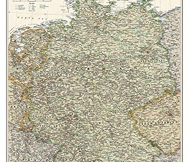 Germany Executive Wall Maps Countries & Regions (National Geographic Reference Map)