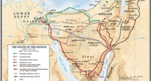 Route Of The Exodus Map, The