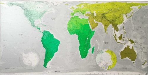Future Map: Huge World Wall Map - Paper Tubed: An Equal Area Projection (Futuremaps)