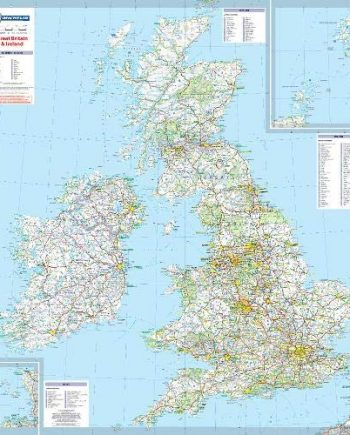 Great Britain and Ireland - Michelin Encapsulated Wall Map (Michelin Wall Maps)