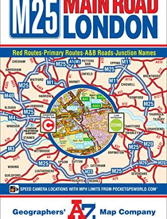Main Road Map of London (A-Z Road Map)