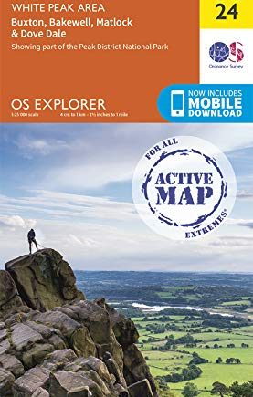 OS Explorer Active Map OL24 The Peak District: White Peak Area (OS Explorer Active)