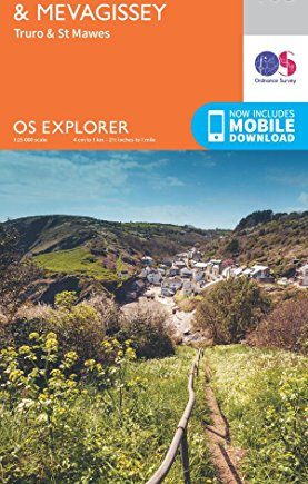 OS Explorer Map (105) Falmouth and Mevagissey, Truro and St Mawes
