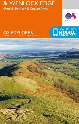 OS Explorer Map 217 The Long Mynd & Wenlock Edge: Church Stretton & Craven Arms (OS Explorer)