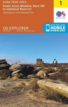 OS Explorer Map OL1 The Peak District: Dark Peak Area (OS Explorer)