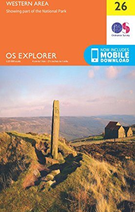 OS Explorer OL26 North York Moors - Western area (OS Explorer Map)
