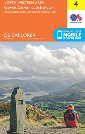 OS Explorer OL4 The English Lakes - North Western area (OS Explorer Map)