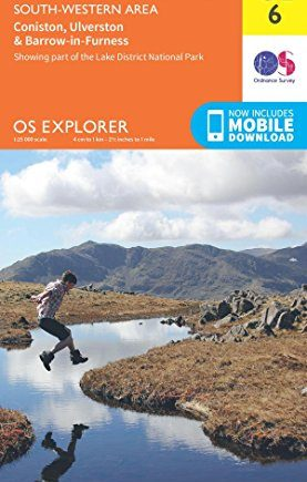 OS Explorer OL6 The English Lakes - South Western area (OS Explorer Map)
