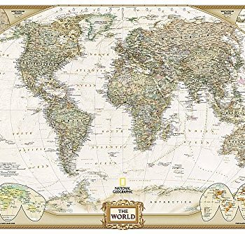 World Executive, Poster Size, tubed (National Geographic Reference Map)