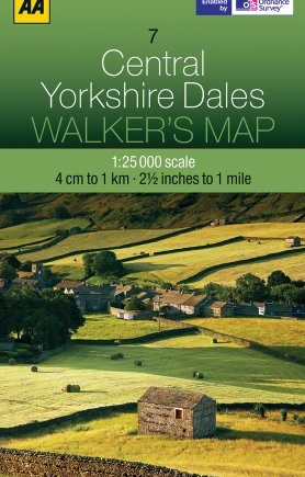 Walkers Map Central Yorkshire Dales