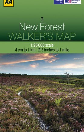 Walkers Map The New Forest