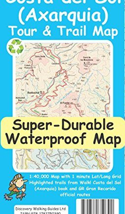 Costa del Sol (Axarquia) Tour and Trail Map