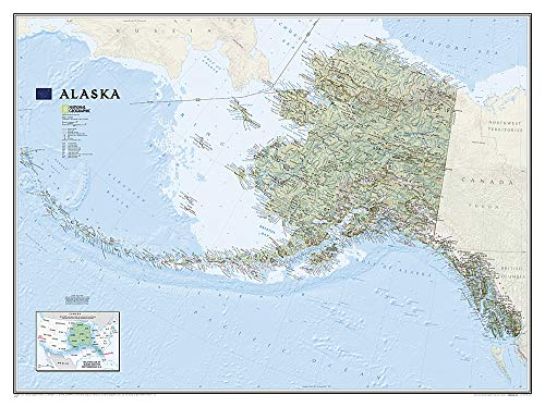 Alaska Flat: Wall Maps U.S. (National Geographic Reference Map)