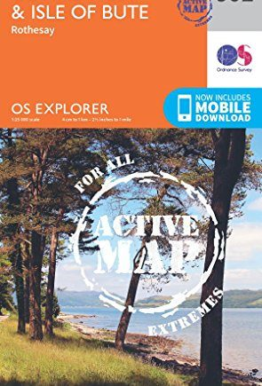 OS Explorer Map Active (362) Cowal West and Isle of Bute (OS Explorer Active Map)