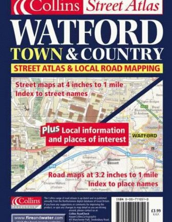 Town and Country – Watford Town Atlas (Town & Country Street Atlas S.)