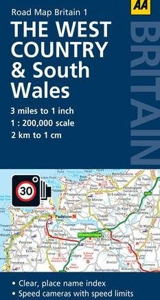 1. West Country & South Wales: AA Road Map Britain
