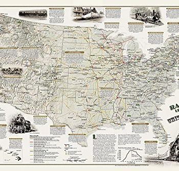 America's Scenic Railways - Laminated: Wall Maps History & Nature (National Geographic Reference Map)