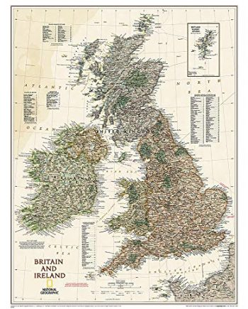 Britain and Ireland Executive Laminated Map: Wall Maps Countries & Regions (National Geographic Reference Map)