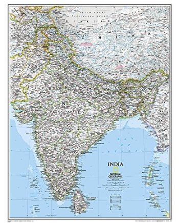 India Classic, laminated: Wall Maps Countries & Regions (National Geographic Reference Map)
