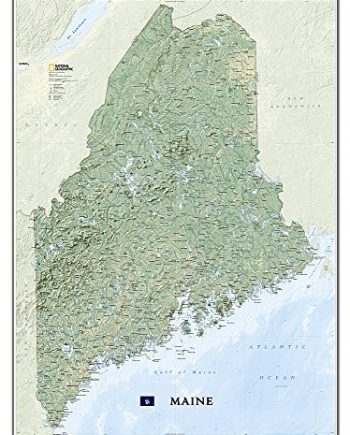 Maine, tubed: Wall Maps U.S. (National Geographic Reference Map)