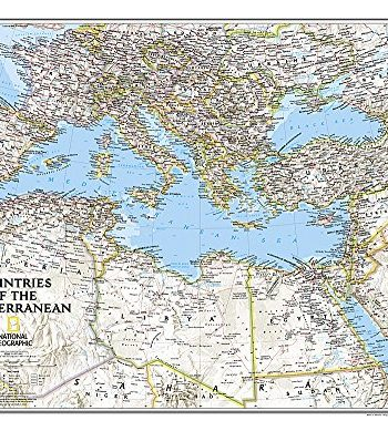Mediterranean countries flat lam. ng: Wall Maps Countries & Regions (National Geographic Reference Map)