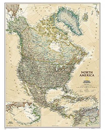 North America Executive, laminated: Wall Maps Continents (National Geographic Reference Map)