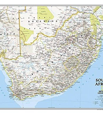 South Africa Classic, Laminated: Wall Maps Countries & Regions (National Geographic Reference Map)