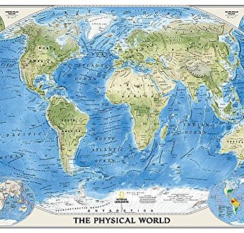 World Physical, tubed: Wall Maps World (National Geographic Reference Map)