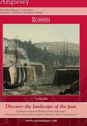 Anglesey (Cassini Old Series Historical Map)