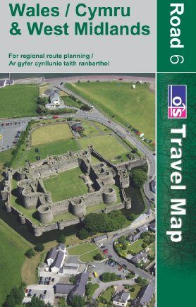 Wales and West Midlands (OS Travel Map - Road Map): Sheet 6