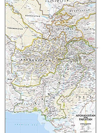 Afghanistan/Pakistan, laminated: Wall Maps Countries & Regions (National Geographic Reference Map)
