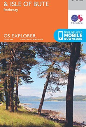 OS Explorer Map 362 Cowal West and Isle of Bute OS Explorer Paper Map