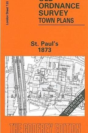 St Paul's & Newgate 1873: London Large Scale Sheet 07.65 (Old Ordnance Survey Maps of London - Yard to the Mile)