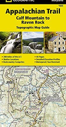 Appalachian Trail, Calf Mountain to Raven Rock, Virginia, West Virginia, Maryland: Trails Illustrated (National Geographic Topographic Map Guide)