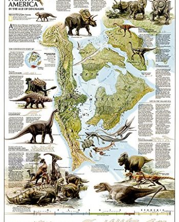 Dinosaurs of North America, tubed: Wall Maps History & Nature (National Geographic Reference Map)