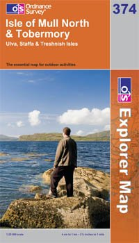 Isle of Mull North & Tobermory OS Explorer Map 374