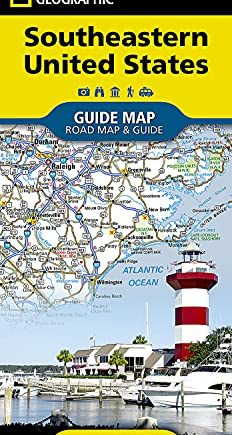 National Geographic Guide Map 2018 Southeastern USA
