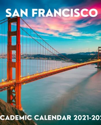 San Francisco Academic Calendar 2021-2022: September 2021 - December 2022 Square Academic Calendar Present   San Francisco Lover Gift Idea For Men & ... Photo Book Monthly Planner With USA Holidays