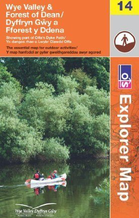 Wye Valley and Forest of Dean (OS Explorer Map) by Ordnance Survey ( 2013 ) Map