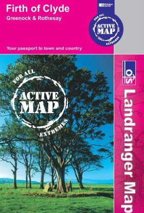 Firth of Clyde, Greenock & Rothesay (OS Landranger Map Active)